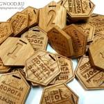 Деревянные медали Дорога Приключений - наградная продукция с гравировкой от Feeling Wood