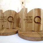 наградная продукция из дерева на заказ, награды из дуба для Qiwi от Feeling Wood
