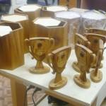 Наградные кубки с тубусами для банка Открытие