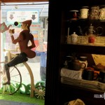 """Деревянный человек, велосипедист для витрины """"Унция"""""""