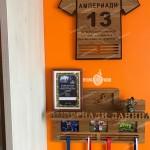 медальница футболка из дерева держатель для медалей футболиста от Feeling Wood