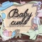 Деревянная вывеска-логотип студии красоты для детей и мам Baby Curls
