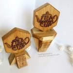 наградная продукция из дерева на заказ, наградные кубки из дуба для Tea Masters Cup от Feeling Wood
