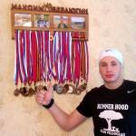 Максим Бердюгин с медальницей от Feeling Wood