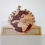 Спортивная медальница для бегуна марафонца от Feeling Wood с гравировкой