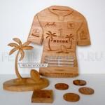 Медальница футболка от Feeling Wood для турнира по регби 1 ПЕСОК