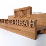 спортивная медальница полка для кубков из дерева от Feeling Wood