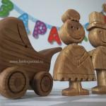 деревянные фигурки реквизит для банка Открытие от Feeling Wood